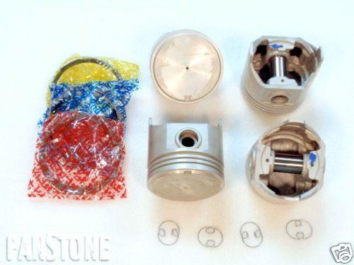 ".010/"" Piston//Ring Kit 75-80 Toyota 2.2L P//u Celica Corona +Eng Bearing .030/"""