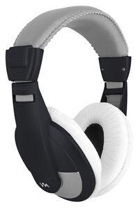 NEW-VM-Audio-SRHP15-Stereo-MP3-iPhone-iPod-Over-the-Ear-DJ-Headphones-Black