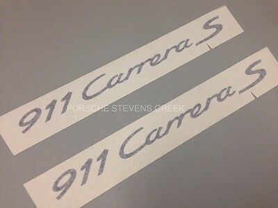 Porsche 911 Carrera S Decorative Film Logo Decal Sticker Set BLACK OEM 911 991
