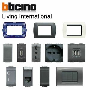 Bticino-living-international-originale-placche-interruttore-presa-Livinglight