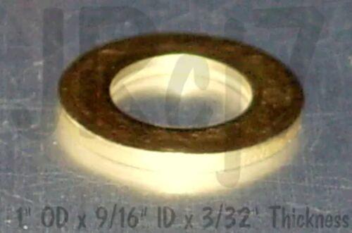 """Marine x10pcs Solid Brass Flat Washer ~ 9//16/"""" ID x 1/"""" OD Boat"""