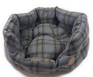 de compagnie extra gris doux large Panier luxe tartan 32 pour animaux de 80cm de pour compagnie chien tweed px0UPHq