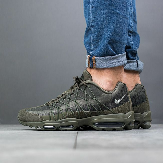 Nike air max 95 ultra jcrd carico cachi green-stucco-blck Uomo sz 13 749771-301