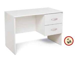 Legno Bianco Frassinato : Scrivania 2 cassetti colore bianco frassinato ebay