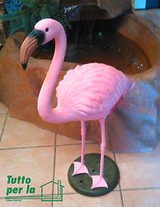 Fenicottero rosa h cm 80 in plastica resina flamingo for Fenicottero arredamento