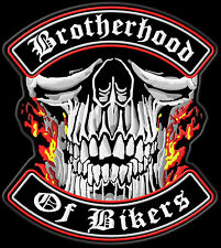 Brotherhood of Bikers Patch Aufnäher XL 30x27cm-Top Qualität US Import Kutte MC
