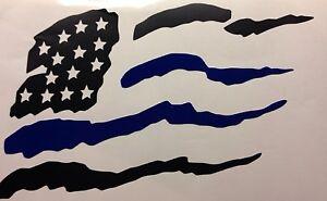 Thin Blue Line American Flag Mag Decal Heavy Duty For Car Truck Suv