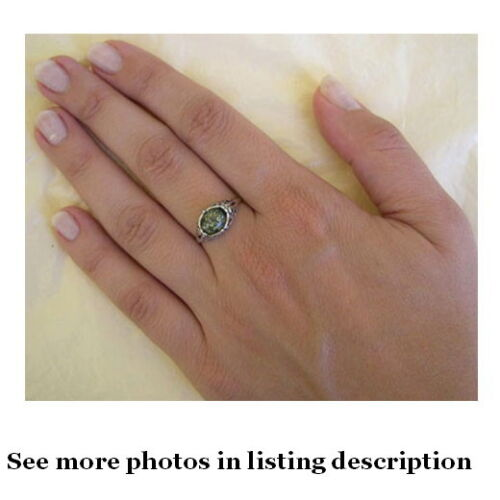 BALTIC BUTTERSCOTCH GREEN or HONEY AMBER STERLING SILVER HANDMADE SOLITAIRE RING