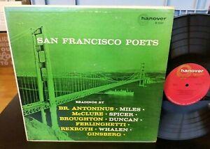 SAN FRANCISCO (Beat) POETS ORIGINAL HANOVER M 5001 LP