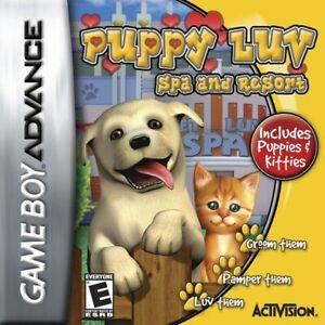 Nintendo-Gameboy-Advance-Jeu-PUPPY-LUV-SPA-amp-RESORT-Youlin-Module