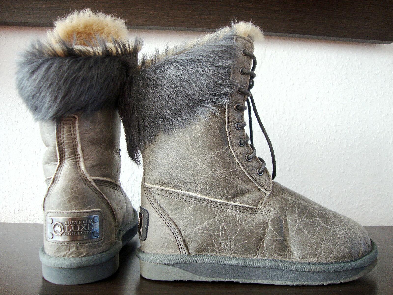 Grandes zapatos con descuento AUSTRALIA LUXE MONTANA SPECIAL Boots Pelz Damen Stiefel Leder Schuhe Gr.37 NEU