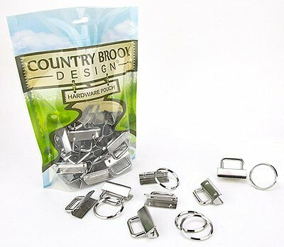 50 - Country Brook Design® 1 1/4 Inch Key Chain Fob Wristlet Hardware Set With