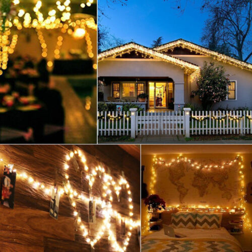 20//30//50//100 LEDs String Copper Wire Fairy Lights Battery Xmas Fairy Decor Lamp