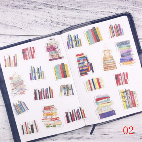 Creative Simulation Book Sticker Diy Notebook Stationery Diary Decor Stickers RS