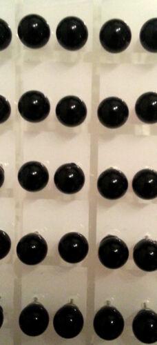Modeschmuck Damen Mädchen Ohrschmuck Ohrstecker Ohrpin schwarzer Achat Gr 8mm