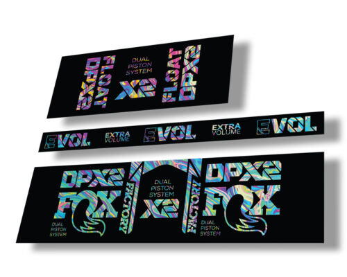 FOX Float DPX2 2021 Rear Shock Suspension Sticker Decal Adhesive Oil Slick 1