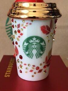 NEW Starbucks 2013 Swarovski Xmas Christmas ornament NEW ...