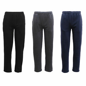 New-Mens-Fleece-Lined-Track-Pants-Casual-Trackies-Slacks-Tracksuit-Casual-Winter
