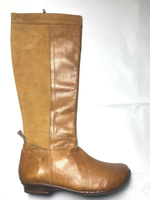 f2995e1c8ac New Born Crown Cognac Leather Suede Women s Knee High Boots  250 6 Mexico  MJK5