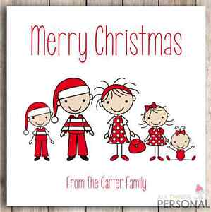personalised family christmas cards