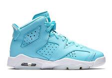"Size 9 Youth (9 Men's) Nike Air Jordan Retro 6 ""Still Blue"" 543390 407 Leather"
