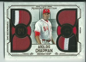 2015 Aroldis Chapman 4 Game Used Patches 3 Color Topps Museum Coll. 16/25