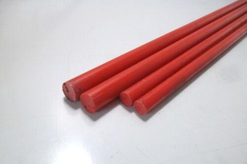 Ø 15mm x 245mm PVC Polyvinylchlorid 8740a rot