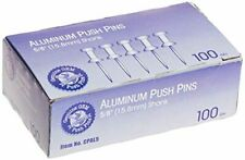 Advantus Aluminum Head Push Pins Steel 58 Inch Point Silver 100 Per Box