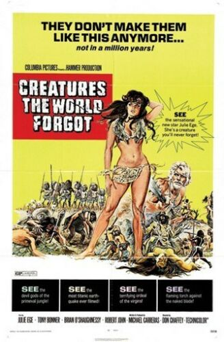 CREATURES THE WORLD FORGOT MOVIE POSTER Rare Hot New