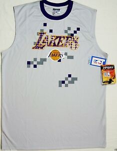 c97bed914 Lakers LA Men s Shirt S M Grey Sport Muscle Sleeveless NBA ...