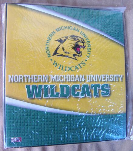 Northern Michigan Wildcats NCAA 3-Ring College School Binder New Wrapped Vinyl
