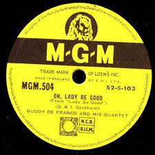 BUDDY De FRANCO QUARTET Oh, Lady be good/ Buddy's Blues  78rpm Modern-Jazz X2739