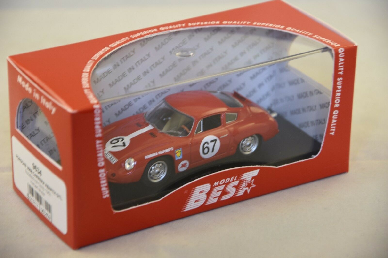 BEST MODEL BES9634 - Porsche 356B Carrera Abarth GTL  67 - 1963  1 43