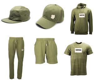 Nash Clothing Green Range T-Shirt Joggers Shorts Hoody Cap 5 Panel FULL RANGE
