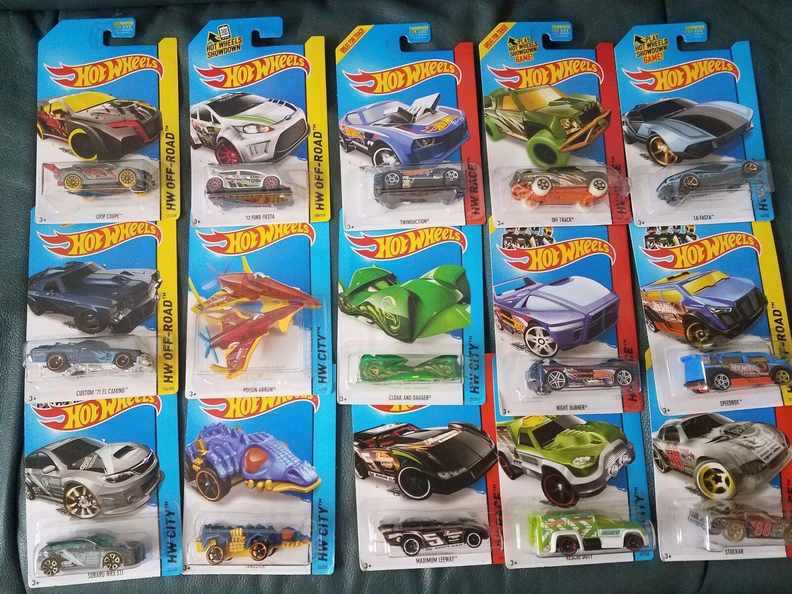 Hot Wheels 2014 Regular 15 Car Treasure Hunt Set Free Shipping