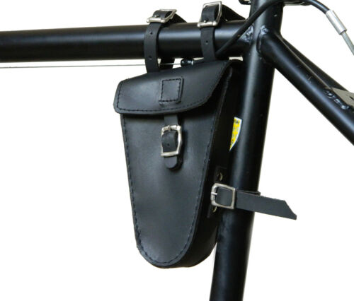 Genuine Leather bicycle saddle bag bike small Frame tool bag pouch Handmade