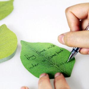 Leaves-Note-Paper-Creative-Notebook-Marker-Sticker-Memo-Pad-Sticky-Notes