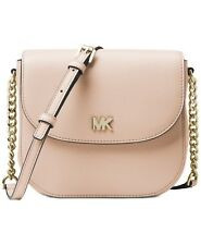 43dd2b7988e9 Michael Kors Soft Pink Mott Pebbled Leather Dome Crossbody Bag 32s8gf5c0l