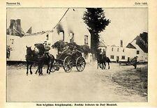 Deutsche Soldaten im Dorf Mouland Belgien August 1914
