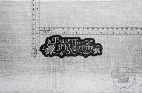 """5,12/"""" x 1,97/"""" Bullet For My Valentine band patch 13cm x 5cm"""