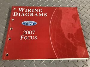 2007 Ford Focus Electrical Wiring Diagram Manual EWD Guide ...