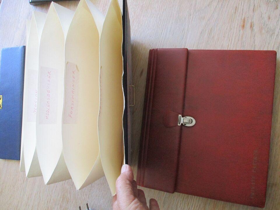mappe til private papirer