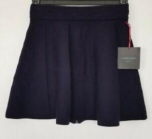 Navy Full Skirt S Rowley Cynthia Zip Womens Knit Nwt Flare Blu Taglia xq0FSwgWna