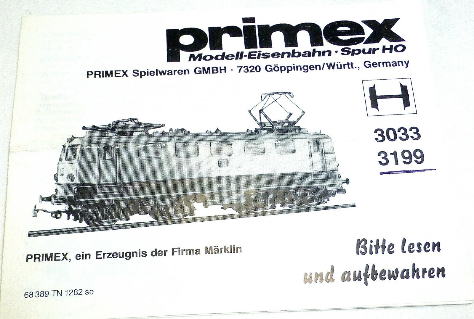 Instructions Märklin Primex 3033 3199 68 389 TN 1282 if å