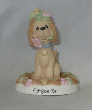 Fur-Give Me Precious Moments Dog Garden Flowers Figurine Puppy Apology NWOB