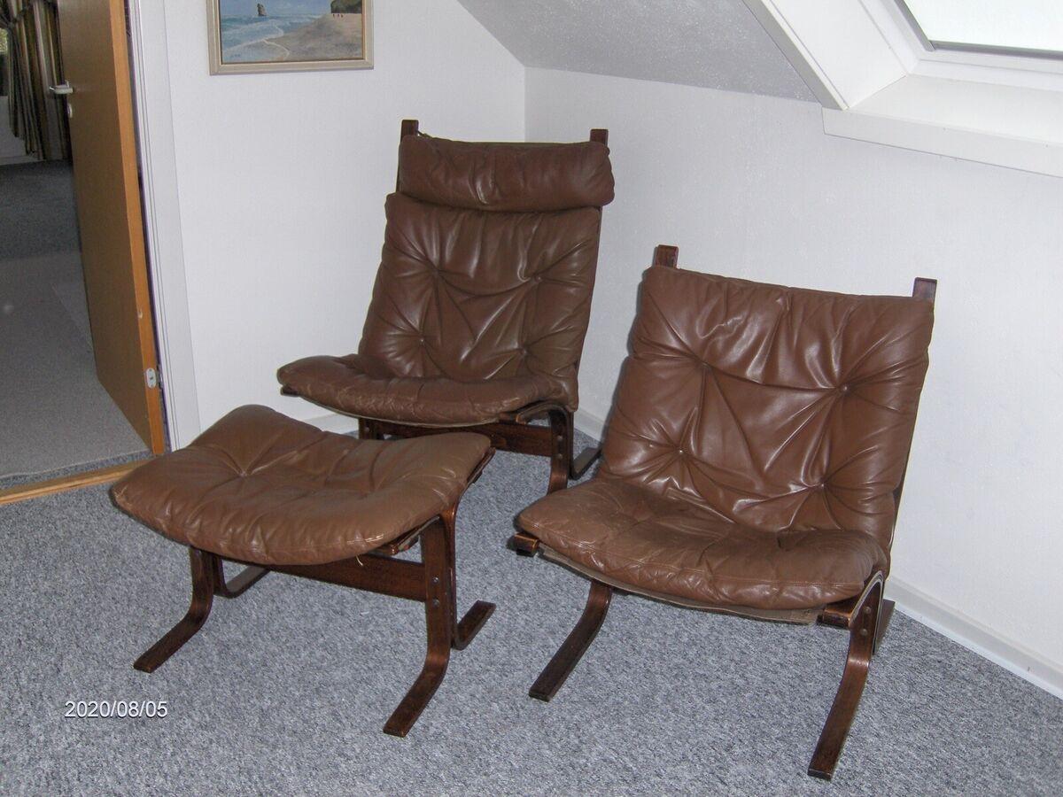 Ingmar Relling, Siesta, Læder stole, 2 Siesta stole med 1