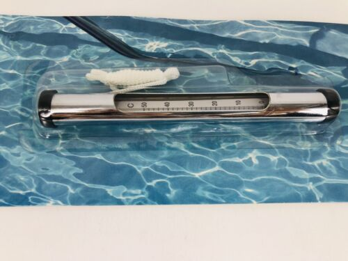 Pooline Chrome Tube Thermometer For Above Ground and In-Ground Pool and Spa