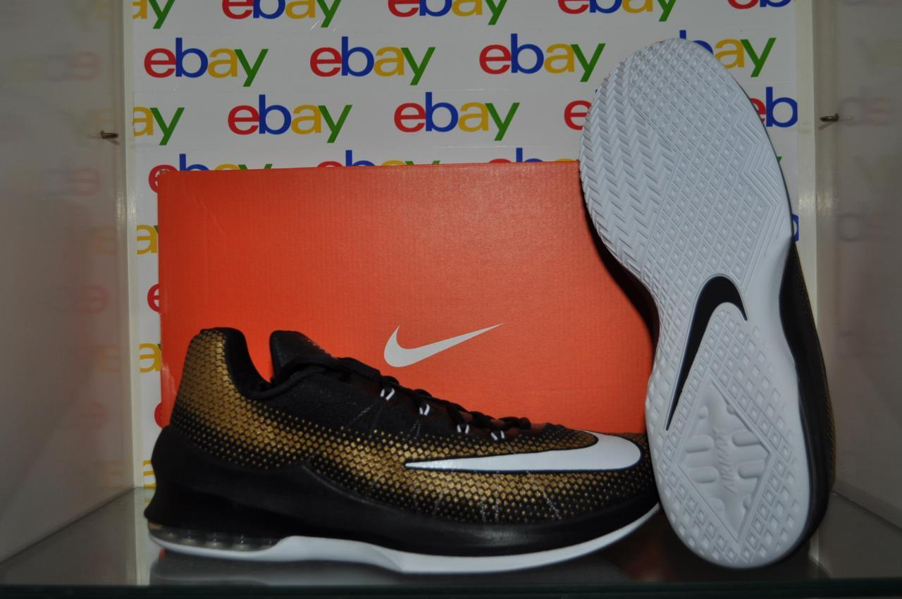 2bd15af9dbfe7 Nike Air Max Infuriate Low Basketball Shoes 852457-003 852457-003  852457-003 Black Metallic Gold NIB 76d35e