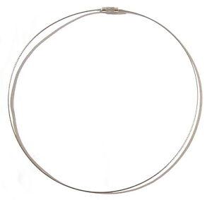 Stahlkette-Edelstahl-Seil-Schraubverschluss-bis-47-cm-1-mm-sehr-stabil
