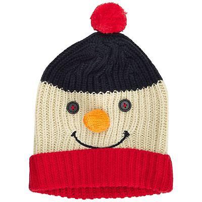 Unisex Pupazzo Di Neve Cappello Con 3d Carota Naso Natale Adulti Xmas Beanie Taglia Unica-mostra Il Titolo Originale Una Vasta Selezione Di Colori E Disegni